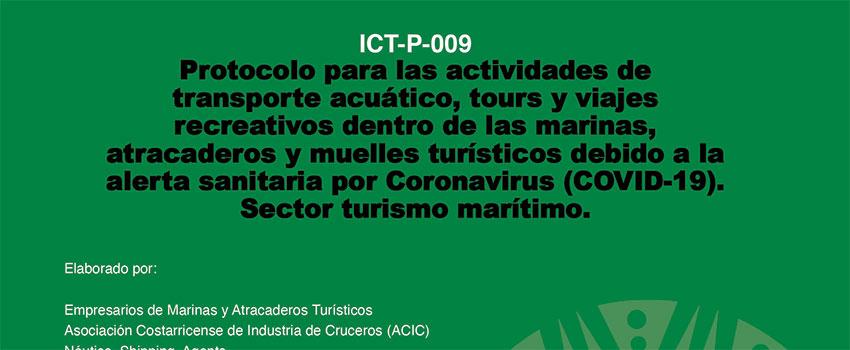 Presentación Protocolo Actividades de Transporte Acuático, Tours y Viajes Recreativos dentro de las Marinas, Atracaderos y Muelles Turísticos