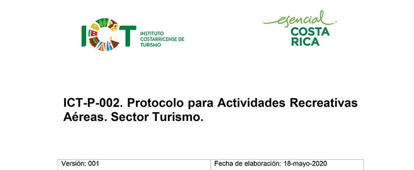 Protocolo ICT-P-002 Actividades Recreativas Aéreas Sector Turismo