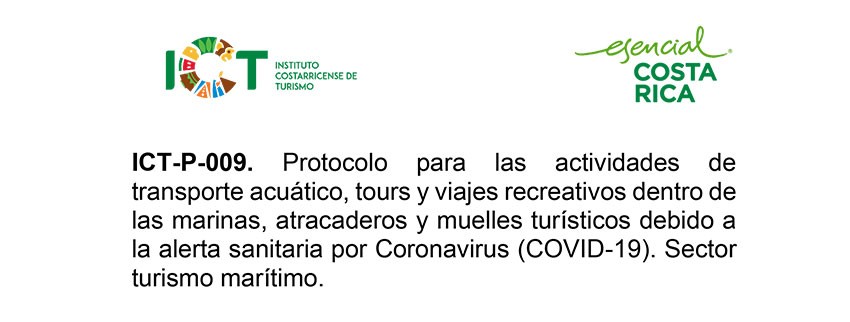 Protocolo ICT-P-009 Transporte Acuático tour y viajes recreativos