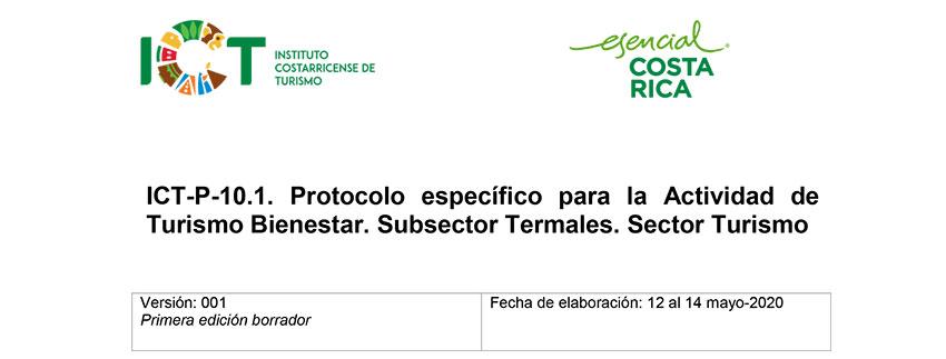Protocolo ICT-P-010.1 Específico para la Actividad de Turismo Bienestar Subsector Termales Sector Turismo