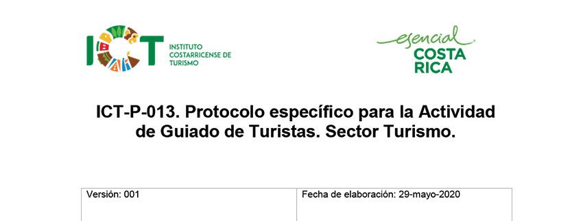 Protocolo ICT-P-013 Sub sector Guíado de Turistas