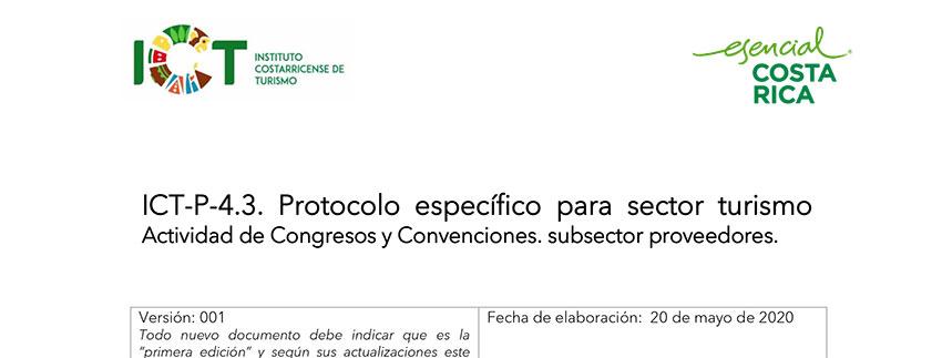 Protocolo ICT-P-004.3 Empresas dedicadas a organizar congresos y convenciones