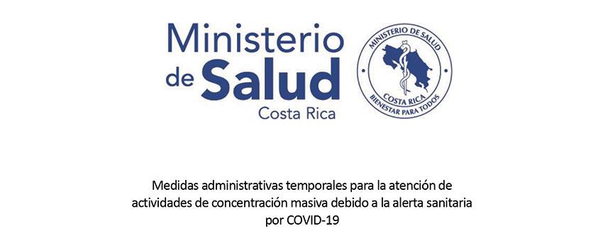Medidas administrativas temporales para la atención de actividades de concentración masiva debido a la alerta sanitaria por COVID-19