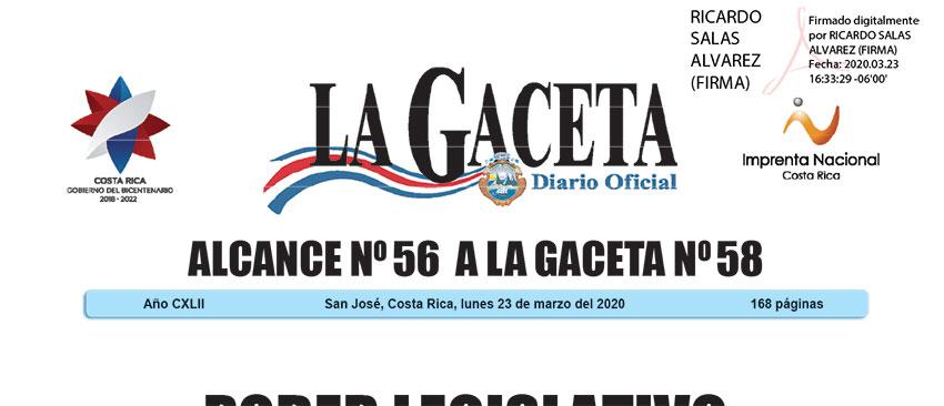 Autorización reducción de jornadas de trabajo ante la declaratoria de Emergencia Nacional